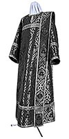 Deacon vestments - metallic brocade BG6 (black-silver)