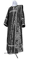 Deacon vestments - metallic brocade BG4 (black-silver)