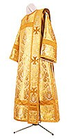 Deacon vestments - metallic brocade BG6 (yellow-claret-gold)
