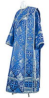 Deacon vestments - rayon brocade S2 (blue-silver)