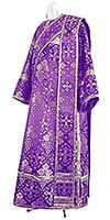 Deacon vestments - rayon brocade S2 (violet-silver)