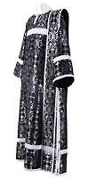 Deacon vestments - rayon brocade S2 (black-silver)