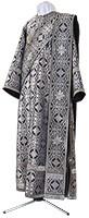 Deacon vestments - rayon brocade S3 (black-silver)