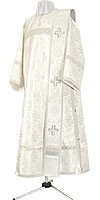 Deacon vestments - rayon brocade S3 (white-silver)