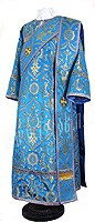 Deacon vestments - rayon brocade S4 (blue-gold)