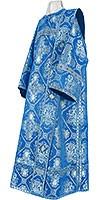 Deacon vestments - rayon brocade S4 (blue-silver)