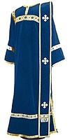 Deacon vestments - natural German velvet (blue-gold)