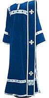 Deacon vestments - natural German velvet (blue-silver)