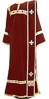 Deacon vestments - natural German velvet (claret-gold)