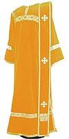 Deacon vestments - natural German velvet (yellow-gold)