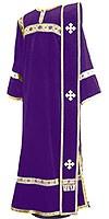 Deacon vestments - natural German velvet (violet-gold)