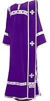 Deacon vestments - natural German velvet (violet-silver)