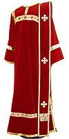 Deacon vestments - natural German velvet (red-gold)