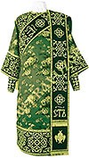 Embroidered Deacon vestments - Wattled (green-gold)