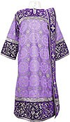 Embroidered Deacon vestments - Iris (violet-silver)
