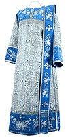 Embroidered Deacon vestments - Chrysanthemum (blue-silver)
