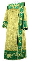 Embroidered Deacon vestments - Chrysanthemum (green-gold)