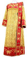 Embroidered Deacon vestments - Chrysanthemum (red-gold)