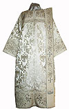 Embroidered Deacon vestments - Chrysanthemum (white-silver)