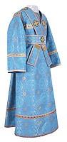 Subdeacon vestments - metallic brocade B (blue-gold)