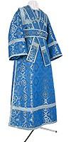 Subdeacon vestments - metallic brocade B (blue-silver)