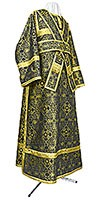 Subdeacon vestments - metallic brocade B (black-gold)