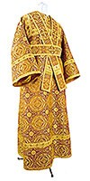 Subdeacon vestments - metallic brocade B (yellow-claret-gold)