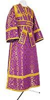Subdeacon vestments - metallic brocade B (violet-gold)