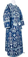 Subdeacon vestments - metallic brocade BG1 (blue-silver)
