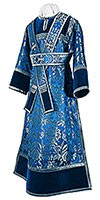 Subdeacon vestments - metallic brocade BG3 (blue-silver)