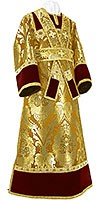 Subdeacon vestments - metallic brocade BG3 (yellow-claret-gold)