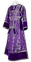 Subdeacon vestments - metallic brocade BG3 (violet-silver)