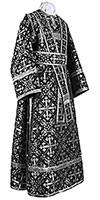 Subdeacon vestments - rayon brocade S2 (black-silver)
