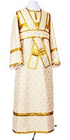 Subdeacon vestments - rayon brocade S3 (white-gold)