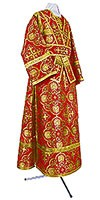 Subdeacon vestments - rayon brocade S4 (red-gold)