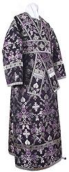 Subdeacon vestments - rayon brocade S4 (black-silver)