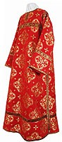 Clergy stikharion - metallic brocade B (red-gold)