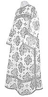 Clergy stikharion - metallic brocade B (white-silver)