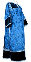 Clergy stikharion - metallic brocade BG2 (blue-silver)