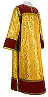 Clergy stikharion - metallic brocade BG6 (yellow-claret-gold)