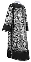 Clergy stikharion - metallic brocade BG6 (black-silver)