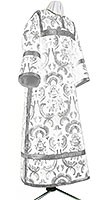 Clergy stikharion - metallic brocade BG4 (white-silver)