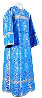 Clergy stikharion - rayon brocade S3 (blue-silver)