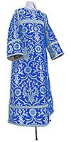 Clergy stikharion - rayon brocade S4 (blue-silver)