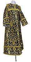 Clergy stikharion - rayon brocade S4 (black-gold)