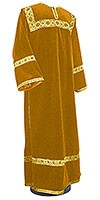 Clergy stikharion - German velvet (yellow-gold)