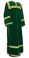 Clergy stikharion - German velvet (green-gold)
