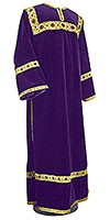 Clergy stikharion - German velvet (violet-gold)