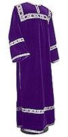 Clergy stikharion - German velvet (violet-silver)