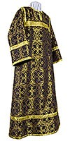 Altar server stikharion - metallic brocade B (black-gold)